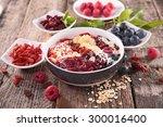 smoothie bowl | Shutterstock . vector #300016400