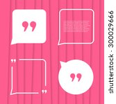 set of citation on pink striped ... | Shutterstock .eps vector #300029666