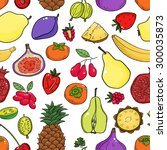 colorful vector seamless... | Shutterstock .eps vector #300035873