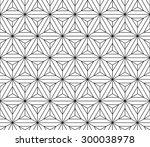 abstract sacred geometry black... | Shutterstock .eps vector #300038978