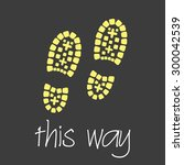 this way with footprint symbols ... | Shutterstock .eps vector #300042539
