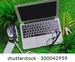 workspace on grass.   Shutterstock . vector #300042959