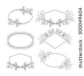 Vector Floral Frame Collection...