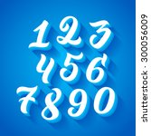 vector set of handwritten... | Shutterstock .eps vector #300056009