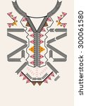 ethnic neck embroidery for... | Shutterstock .eps vector #300061580