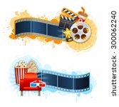 realistic cinema movie poster... | Shutterstock .eps vector #300062240