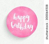 Lettering Happy Birthday...