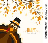 vector illustration of a happy... | Shutterstock .eps vector #300067910