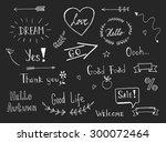 vintage style hand lettered... | Shutterstock .eps vector #300072464