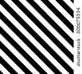 black and white diagonal lines. ... | Shutterstock .eps vector #300075554