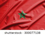 morocco flag on soft and smooth ... | Shutterstock . vector #300077138