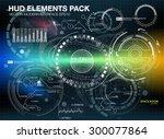 infographic elements.... | Shutterstock .eps vector #300077864