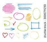collection of graphic elements. ... | Shutterstock .eps vector #300079250