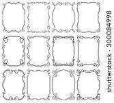 set of frames design elements.... | Shutterstock . vector #300084998