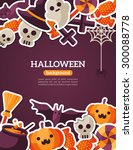 halloween concept banner with...   Shutterstock .eps vector #300088778