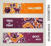 horizontal banners set with... | Shutterstock .eps vector #300088784