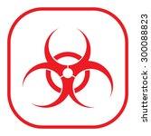 biohazard symbol vector sign... | Shutterstock .eps vector #300088823