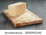 Parmesan Cheese Sliced On Oliv...