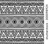seamless ethnic pattern. black...   Shutterstock .eps vector #300098924