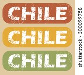 chile on colored background | Shutterstock .eps vector #300099758