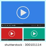 modern flat video player... | Shutterstock .eps vector #300101114