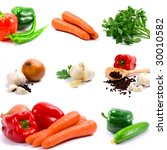 collection of vegetables on... | Shutterstock . vector #30010582