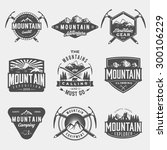 vector set of mountain... | Shutterstock .eps vector #300106229