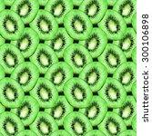 watercolor kiwi slice fruit... | Shutterstock . vector #300106898