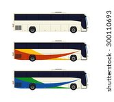 set of three coach bus icons.... | Shutterstock .eps vector #300110693
