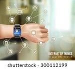 internet of things in smart...   Shutterstock .eps vector #300112199
