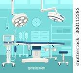 medical operation room...   Shutterstock .eps vector #300112283