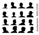 vector anonymous avatar set... | Shutterstock .eps vector #300112934