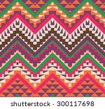 seamless colorful ethnic...   Shutterstock .eps vector #300117698