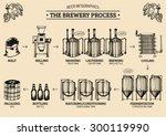 vector beer infographics with... | Shutterstock .eps vector #300119990
