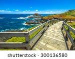 the boardwalks outside the...   Shutterstock . vector #300136580