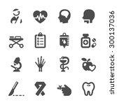 medical icon set 5  vector... | Shutterstock .eps vector #300137036