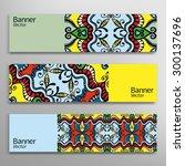 graphic trendy banners set....   Shutterstock .eps vector #300137696
