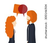 people digital design  vector... | Shutterstock .eps vector #300146504
