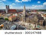 munich city skyline  munich ... | Shutterstock . vector #300147488