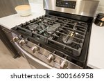 electronic oven closeup in... | Shutterstock . vector #300166958