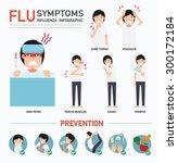 flu symptoms or influenza... | Shutterstock .eps vector #300172184