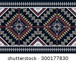 geometric ethnic pattern design ... | Shutterstock .eps vector #300177830