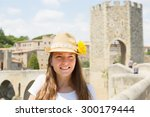 Portrait Of Female Tourist Wit...