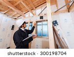 architect to check the house... | Shutterstock . vector #300198704