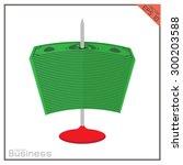 business vector skewer icon... | Shutterstock .eps vector #300203588