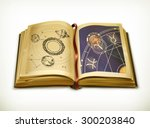 old book  astrology vector icon | Shutterstock .eps vector #300203840