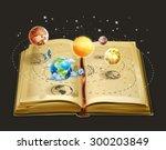 book on astronomy  vector icon | Shutterstock .eps vector #300203849