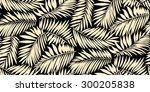 seamless palm leaf pattern in... | Shutterstock .eps vector #300205838