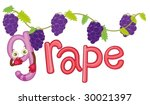illustration for the word grape