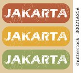 jakarta on colored background | Shutterstock .eps vector #300216356